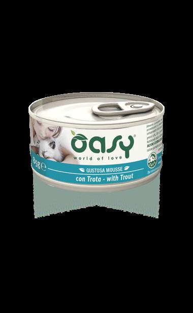 Oasy - Umido Wet Cat Mousse con Trota. 85 gr