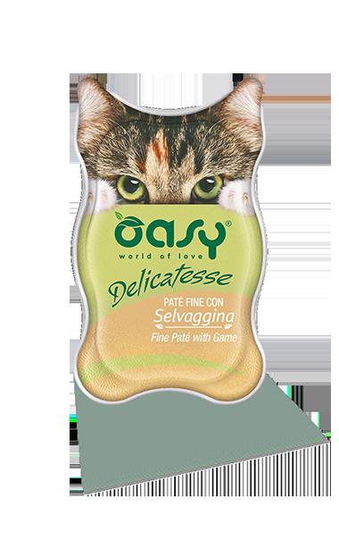 Oasy - Umido Cat Delicatesse - Paté con Selvaggina. 85gr