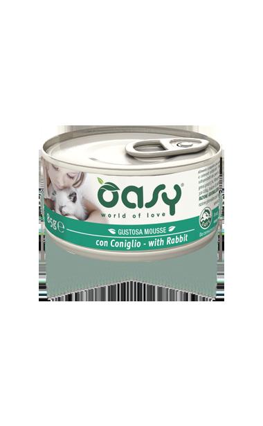 Oasy - Umido Wet Cat Mousse con Coniglio. 85 gr