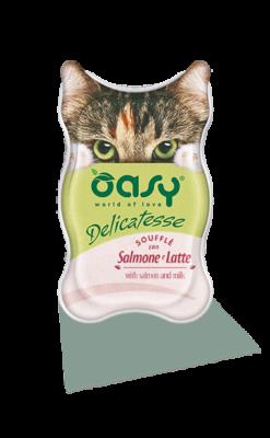 Oasy - Umido Cat Delicatesse - Soufflé con Salmone e Latte. 85gr