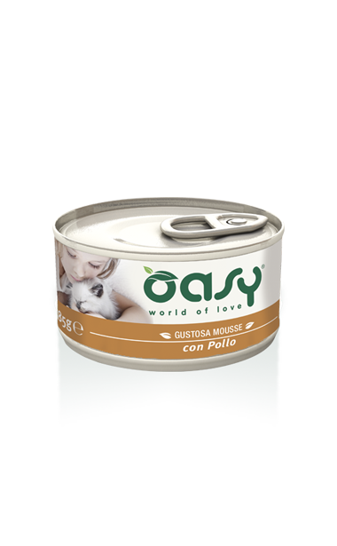 Oasy - Umido Wet Cat - Mousse con Pollo. 85gr