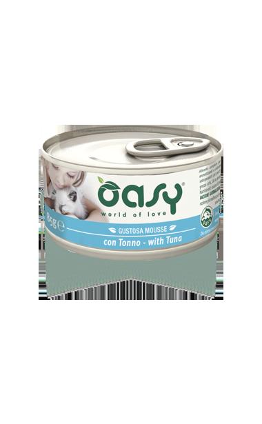 Oasy - Umido Wet Cat Mousse con Tonno. 85 gr