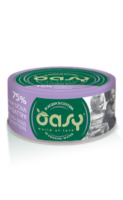 Oasy - Umido Cat More Love - Pollo con uova per Gattini. 70gr