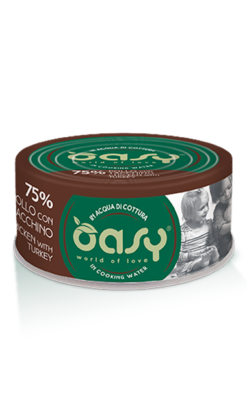 Oasy - Umido Cat More Love - Pollo con Tacchino. 70gr