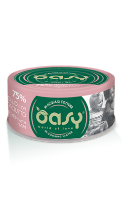 Oasy - Umido Cat More Love - Pollo con Prosciutto. 70gr