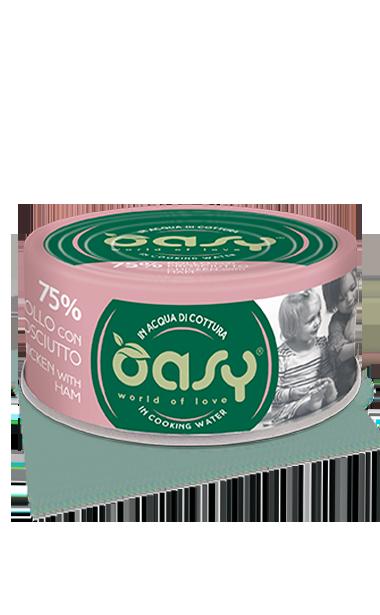 Oasy - Umido Cat More Love - Pollo con Prosciutto. 70gr