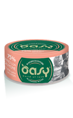 Oasy - Umido Cat More Love - Tonno con Salmone. 70gr