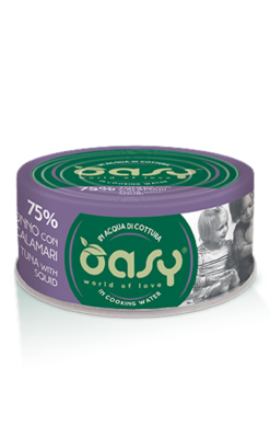 Oasy - Umido Cat More Love - Tonno con Calamari. 70gr