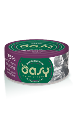 Oasy - Umido Cat More Love - Tonno con Sardine. 70gr