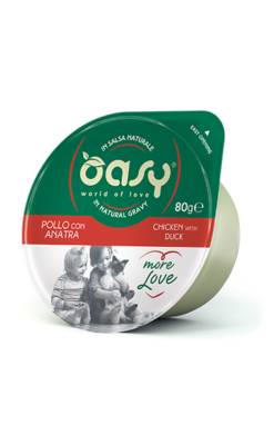 Oasy - Umido Cat More Love - Cup Pollo con Anatra. 80gr