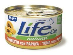 Life Cat Natural - Umido Tonno Papaya. 85gr