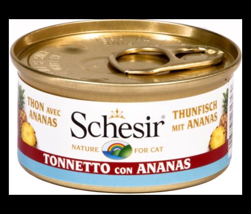 Schesir -Cat Fruit Tonno Ananas. 75 gr