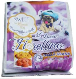 Pura Natura – biscotto Fiorellino al farro glassato con mirtilli cocco melissa