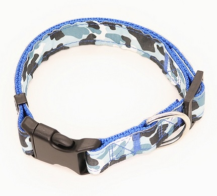 Dog Collar - Collare cane blu. Taglia M regolabile
