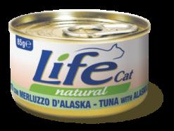 Life Cat - Umido Tonno Merluzzo Alaska. 85gr