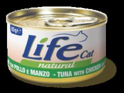 Life Cat Natural - Umido Tonno Pollo Manzo. 85gr