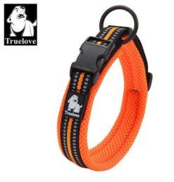 Truelove - Collare regolabile in Nylon imbottito riflettente. Taglia S