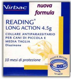 Virbac – Collare Antiparassitario Cane Reading Long Action. Taglia piccola media