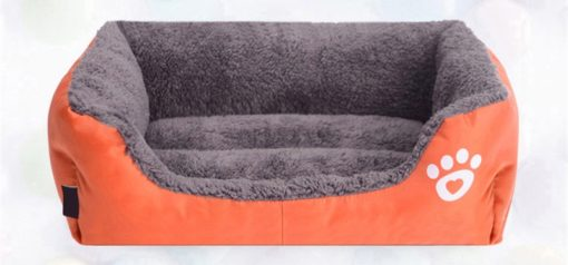 Morbida Cuccia rettangolo cani e gatti. Arancio Medium - 47x34x8