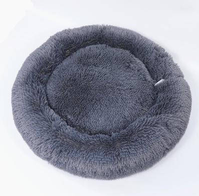 Cianbella cuscino soffice in cotone. Grigio scuro diam 60cm