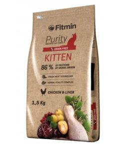 Fitmin - Purity Kittene Crocchette Gatto Cucciolo Pollo. 1,5kg