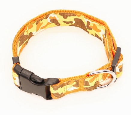 Dog Collar - Collare cane giallo. Taglia L regolabile