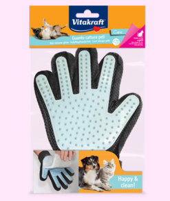 Vitakraft - Guanto Magic con silicone. Massaggio e pulizia