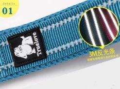 Truelove - Collare regolabile in Nylon imbottito riflettente. Taglia L