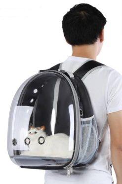 Zaino trasportino con Oblò per gatti e piccoli cani. 42x33x25 cm