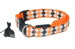 Let's Pet – Collare USB lampeggiante. Colore arancio taglia S