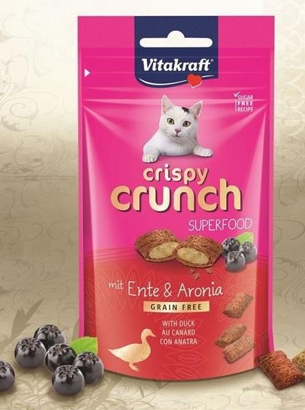 Vitakraft - Cat Crispy Crunch Anatra Bacche Aronia. 60gr