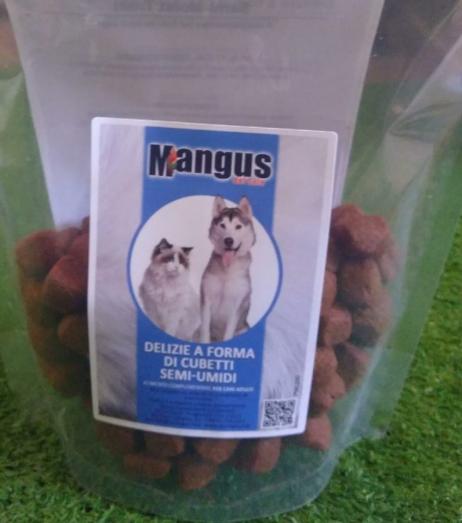 Mangus del Sole - Dog Snack delizie cubetti semi umido. 250gr