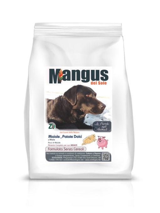 Mangus del Sole - Dog Grain Free Maiale Patata Dolce. 2kg