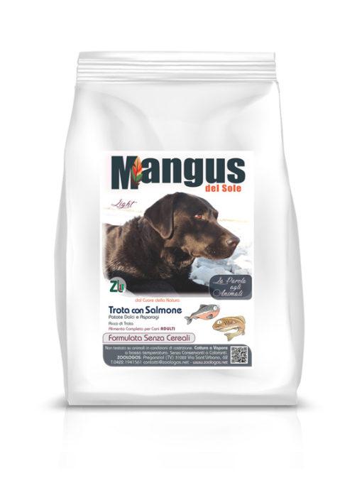 Mangus del Sole - Dog Grain Free Light Trota Salmone Patata Dolce. 2kg