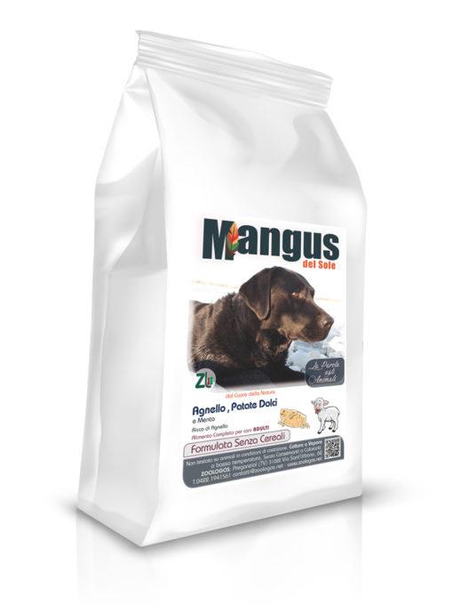 Mangus del Sole - Dog Grain Free Agnello Patata Dolce. 6kg