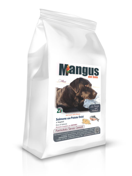 Mangus del Sole - Dog Grain Free Puppy Large Breeds Salmone Patata Dolce. 6kg