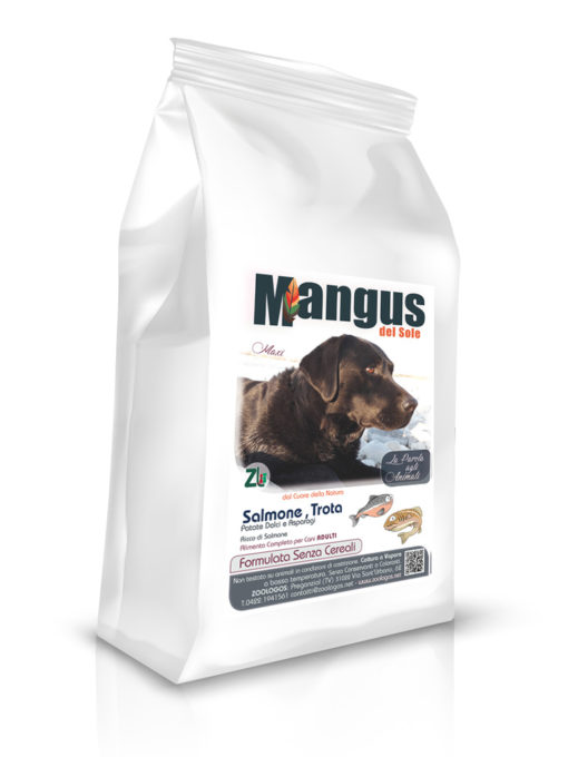 Mangus del Sole - Dog Grain Free Large Breeds Salmone Trota. 12kg