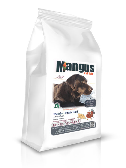 Mangus del Sole - Dog Grain Free Light Tacchino. 12kg