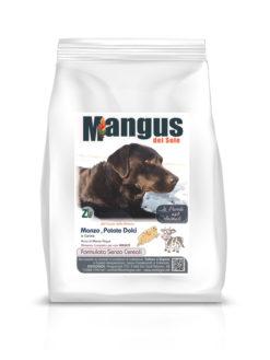 Mangus del Sole - Dog Grain Free Manzo Patata Dolce. 2kg