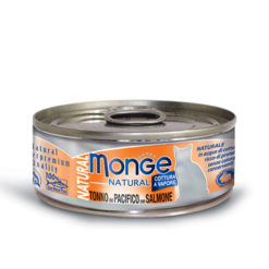 Monge - Cat Natural Tonno del Pacifico con Salmone 80gr