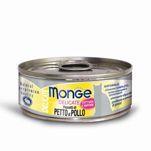 Monge - Cat Delicate Pezzetti di Petto di Pollo 80gr