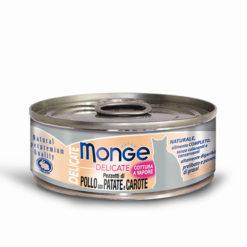 Monge - Cat Delicate Pezzetti di Pollo con patate carote 80gr