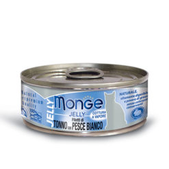 Monge - Cat Jelly Tonno Pacifico Pesce Bianco 80gr