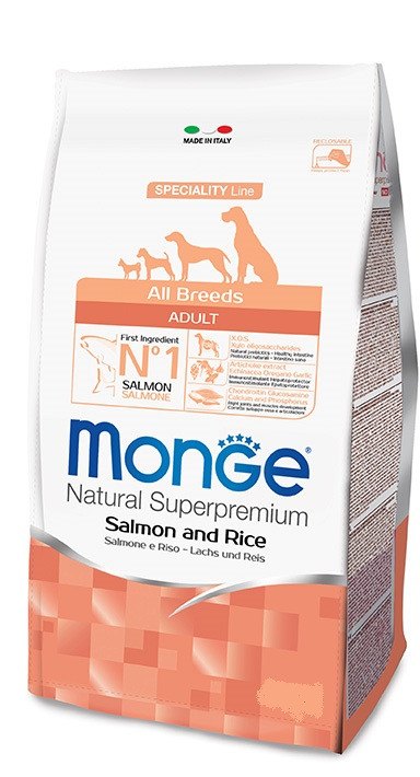 Monge - All Breeds Adult Salmone Riso 12Kg