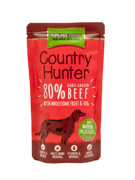 Natures:Menu – Dog Country Hunter- Manzo. Busta 150gr