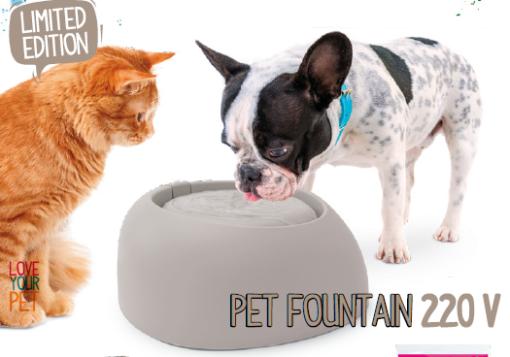 Imac - Fontana d'acqua per Cani e gatti. Pet Fountain 220V. 32x28x13 cm