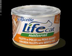 Life Cat Ricette - Umido Pollo Pesce Bianco. 150gr