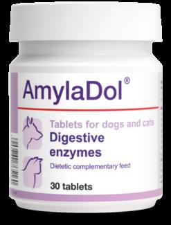 Dolfos - AmylaDol 30 cani gatti. Disturbi digestivi e insufficenza pancreatica esocrina