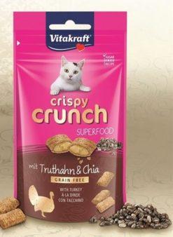 Vitakraft - Cat Crispy Crunch Tacchino Semi di Chia. 60gr