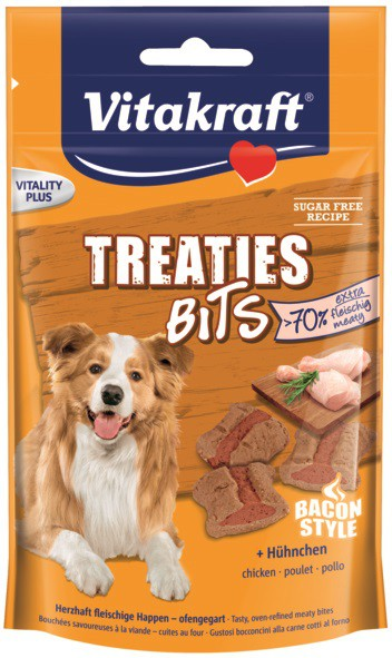 Vitakraft - Treaties Bits pollo bacon 120g